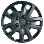 Silver alloy look wheel trims