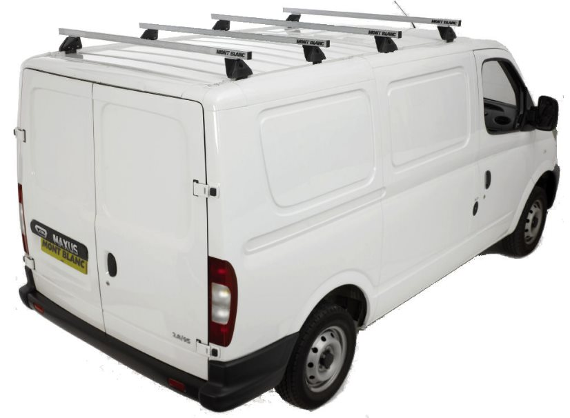 custom van roller maxus tech product roof aerotech transit rack kit with aero bar rear racks