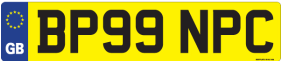 We Stock GB Number plates Only £10.99
