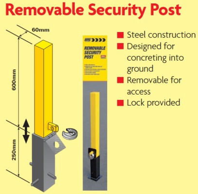 removable security posts