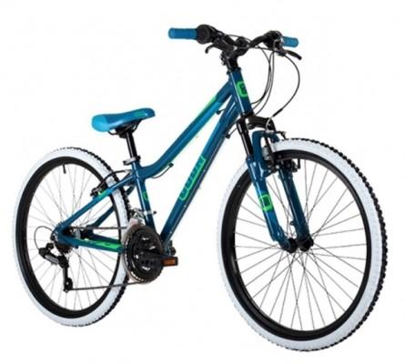 Cuda Kinetic 24″ Mountain Bike Dark Blue/Neon Green