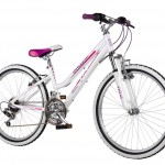 Cuda 24 inch White/Pink Kinetic Bike for Girls
