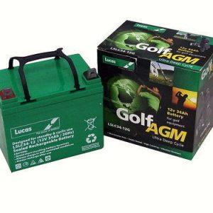 36 hole golf battery